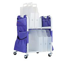 """""""As Is"""" Totally-Tiffany Paper Cart with Apron and Paper Handlers"""