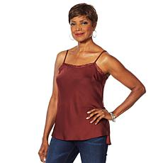 """As Is"" Vanessa Williams Double Duty Lace Trim Cami"