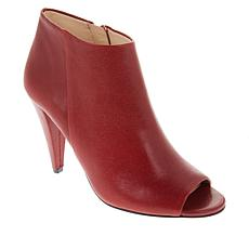 """As Is"" Vince Camuto Azalea Leather Peep-Toe Ankle Bootie"