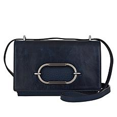"""As Is"" Vince Camuto Wes Leather Crossbody Bag"