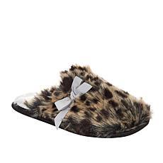 """""""As Is"""" Warm and Cozy Leopard Faux Fur Mule Slipper"""