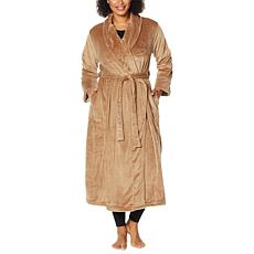"""As Is"" Warm & Cozy Plush Tie-Front Robe with Pockets"