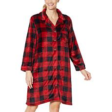 """""""As Is"""" Warm & Cozy Style and Comfort Plush Sleeping Gown"""