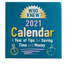 """""""As Is"""" Who Knew? 2021 Calendar of Money and Time Saving Tips"""