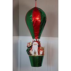 """""""As Is"""" Wind and Weather LED Santa in Hot Air Balloon"""