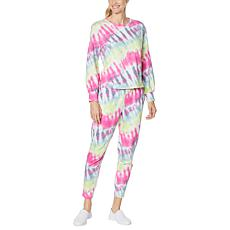 """""""As Is"""" WVVY 2-piece Printed Sweatshirt and Jogger Pant Athleisure ..."""