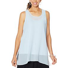 """As Is"" WynneLayers Chiffon Tunic Tank"