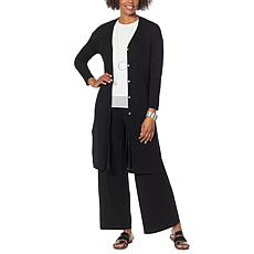 """""""As Is"""" WynneLayers Jersey Knit Button-Front Duster"""