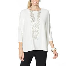 """""""As Is"""" WynneLayers Luxe Crepe Easy Fit Top"""