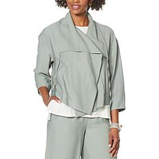 """""""As Is"""" WynneLayers Sedona Jacket with Drawstring Collar"""