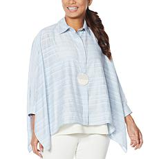 """""""As Is"""" WynneLayers Sheer Gauzey Unstructured Shirt"""