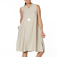 """As Is"" WynneLayers Sleeveless Crinkled Midi Dress"