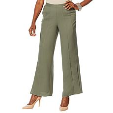 """As Is"" WynneLayers Woven Georgette Pull-On Pleated Pant"