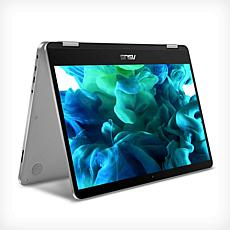"ASUS VivoBook Flip 14"" Intel Celeron 4GB RAM 64GB eMMC 2-in-1 Laptop"