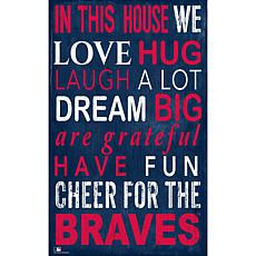 Atlanta Braves In This House Sign
