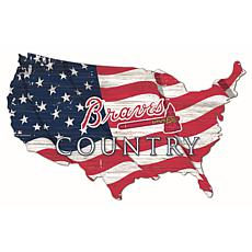 Atlanta Braves USA Shape Flag Cutout
