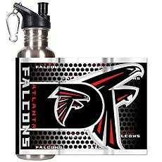 Atlanta Falcons Stainless Steel Water Bottle with Metal