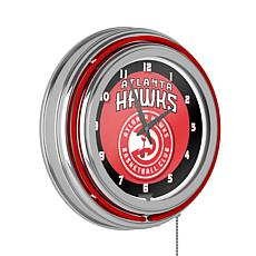 Atlanta Hawks Double Ring Neon Clock