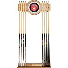 Atlanta Hawks NBA Billiard Cue Rack with Mirror