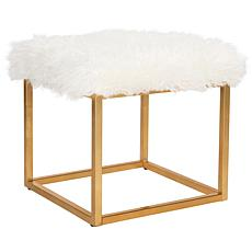 august  &  leo Faux Sheepskin Ottoman by Safavieh