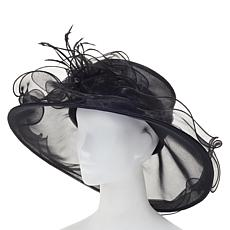 August Hat Company Fine Millinery Organza Ruffle Dressy Hat