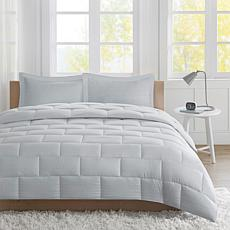 Avery Full/Queen Seersucker Down Alternative Comforter Mini Set - Gray