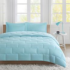 Avery Twin Seersucker Down Alternative Comforter Mini Set - Aqua