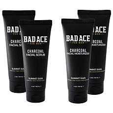 BAD ACE Moisturizer and Face Scrub 4-Pack