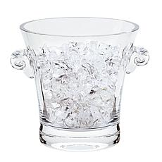 Badash Chelsea Mouth Blown Thick Sham Crystal Ice Bucket  6.5x6""