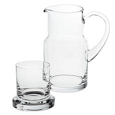 "Badash Manhattan Mouth-Blown 8"" Carafe 2-piece Set"