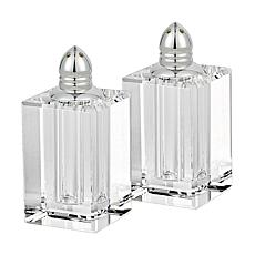 Badash Spirit Platinum Lead-Free Crystal Salt & Pepper Shakers