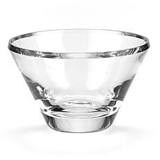 "Badash Trillion Mouth-Blown Crystal 8"" Beveled Edge Bowl"