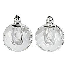 Badash Zendra Platinum Lead-Free Crystal Salt & Pepper Shakers