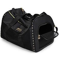 Badgley Mischka Cali Vegan Leather and Mesh Pet Carrier