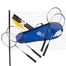 Badminton Set Complete Outdoor Yard Game w/ 4 Racquets by Hey! Play!