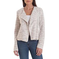 Bagatelle Collection Collarless Tweed Jacket - Ivory
