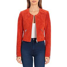 Bagatelle NYC Cropped Genuine Suede Jacket
