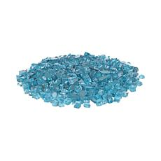 Bahama Blue Reflective Fire Glass