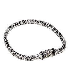Bali Designs  0.43ctw Black Spinel Tulang Naga Bracelet