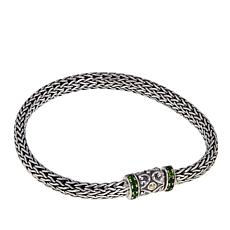 Bali Designs 0.43ctw Chrome Diopside Tulang Naga Bracelet