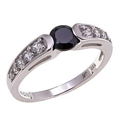 Bali Designs 0.86ctw Black Spinel and Zircon  Ring