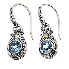 Bali Designs 1.58ctw  Round Labradorite Drop Earrings