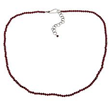 "Bali Designs 18"" Rhodolite Beaded Necklace"