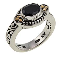 Bali Designs  1.8ct Oval Black Spinel East-West Ring