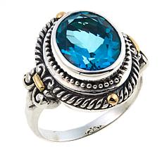 Bali Designs 2.02ct Paraiba-Color Quartz Cable Ring