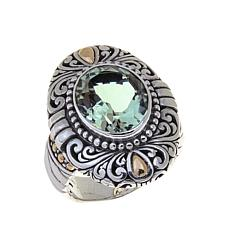Bali Designs 3.3ct Oval Prasiolite Ring