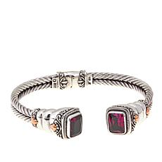 Bali Designs 4.52ctw Pink Quartz Cable Bangle