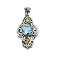 Bali Designs 4.5ctw Sky Blue Topaz and Peridot Pendant