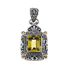 Bali Designs 4.6ct Lemon Quartz Rectangle Pendant