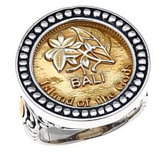 Bali Designs 500 Rupiah Coin Sterling Silver Ring